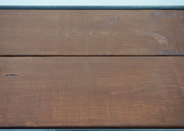 industrial entertainment center wood top