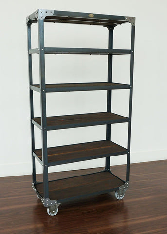 Industrial display shelf ideal for a store, cafe, dispensary and hotel