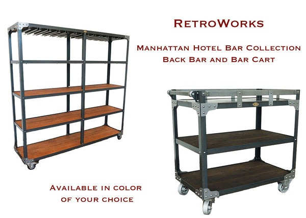 best matching industrial back bar and bar cart for hotels online
