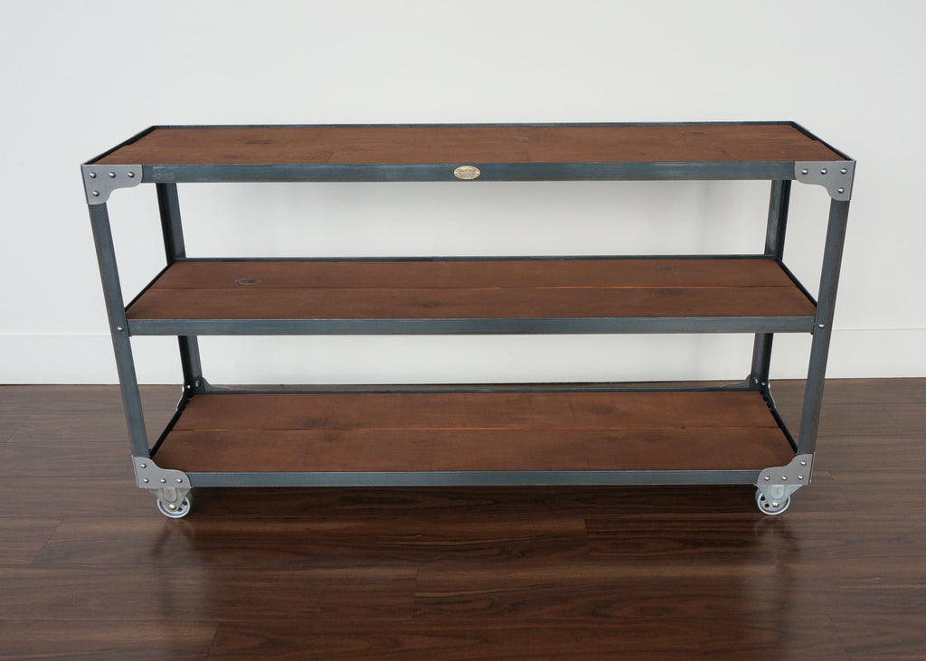 best wide steel and wood open console online