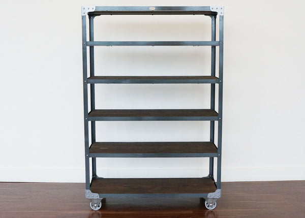 best handmade metal and wood retail fixture on casters Ontario