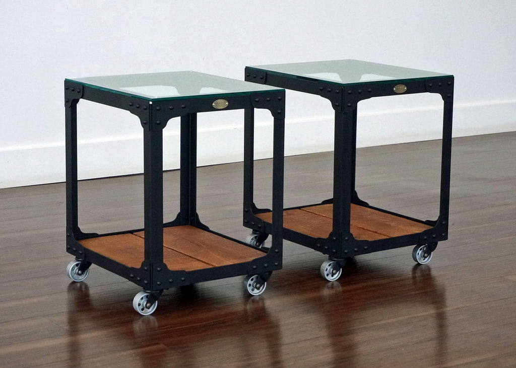 matching industrial end tables powerhouse tool trolley. Black Bedroom Furniture Sets. Home Design Ideas