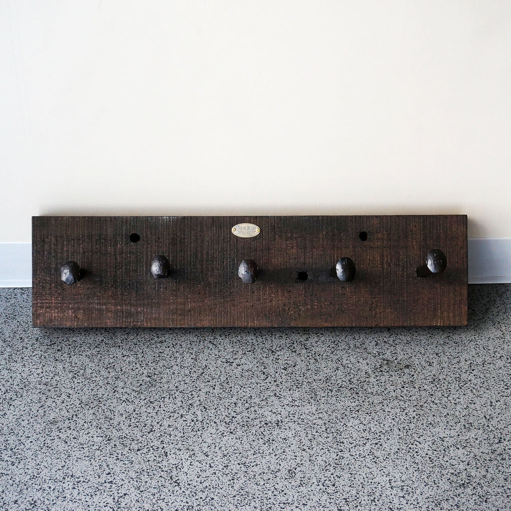 rustic reclaimed wood rail spike coat rack handmade online