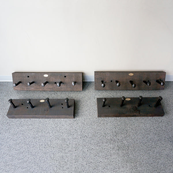 best handmade artisanal reclaimed wood rail spike coat rack