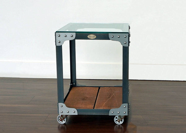 Industrial End Table Tannery Tool Trolley Retroworks