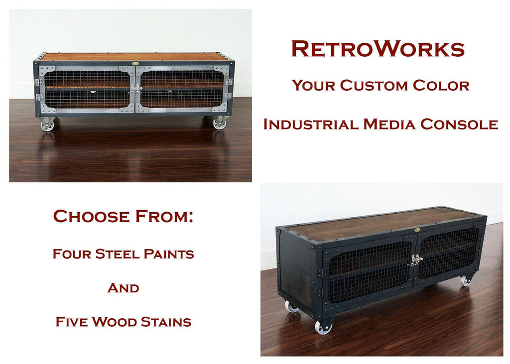 Your Custom Color - Industrial Media Console