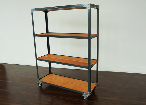 custom handmade merchandise industrial shelf for retail dispensary or cafe online