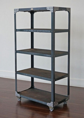 Industrial Bookcase for office, condo, loft or cottage