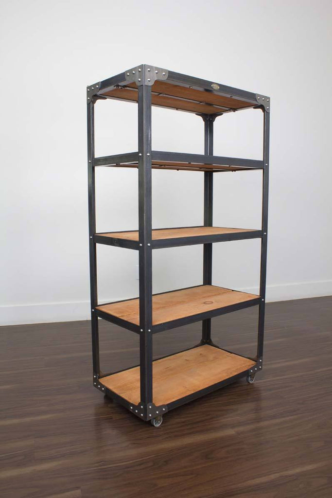 Metal and Wood Bookcase for condo