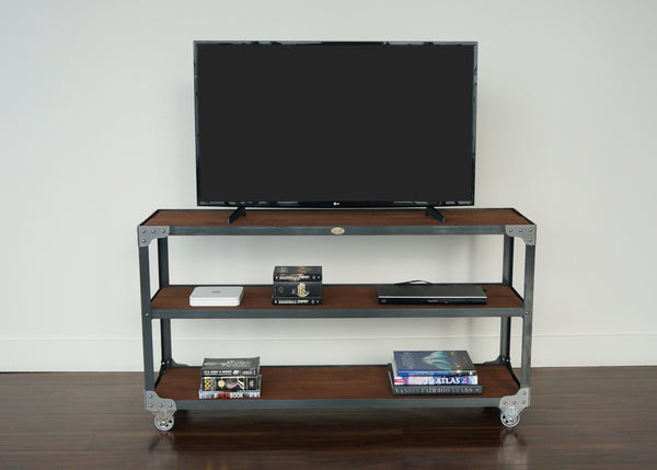 best handmade open industrial entertainment console online