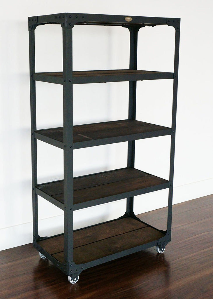 industrial ls best front on style toronto handmade angle wheels bookshelf railroad junction retroworks px shelf online by products