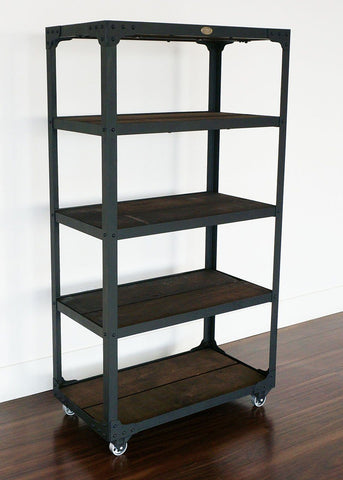 best handmade Industrial style shelf on wheels online