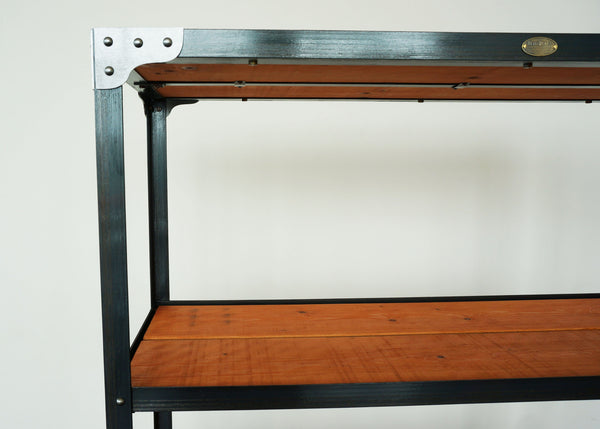 handmade designer industrial shelf on wheels online USA