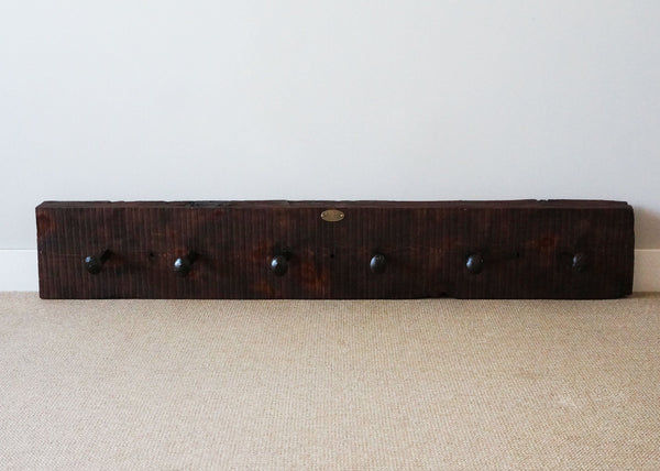 Rustic Rail Spike Coat Rack