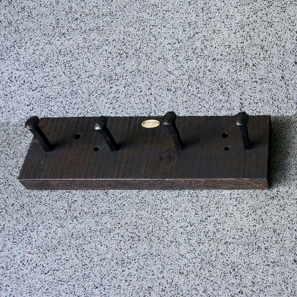reclaimed wood beam rail spike coat rack handmade online toronto