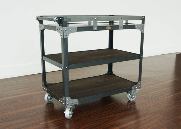 handmade industrial bar cart on wheels online toronto
