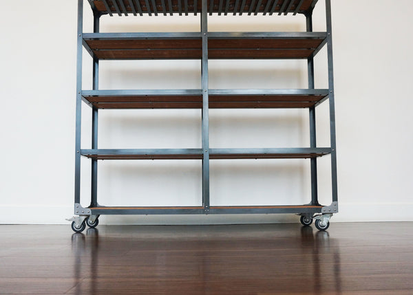 best matching metal and wood bar shelving online Toronto