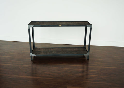 best handmade steel and wood industrial style console table Toronto