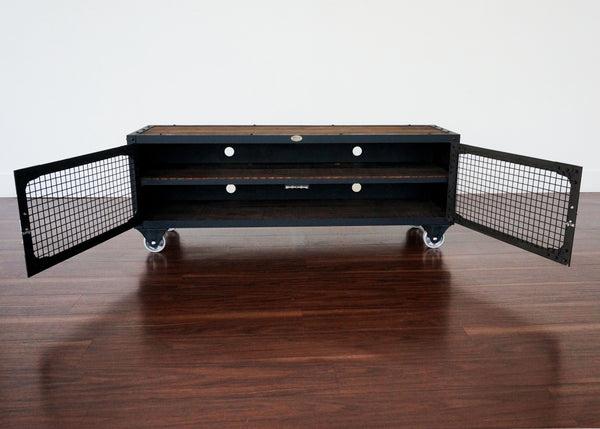 best metal and wood industrial media console online