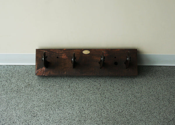 rustic reclaimed rail coat rack online usa