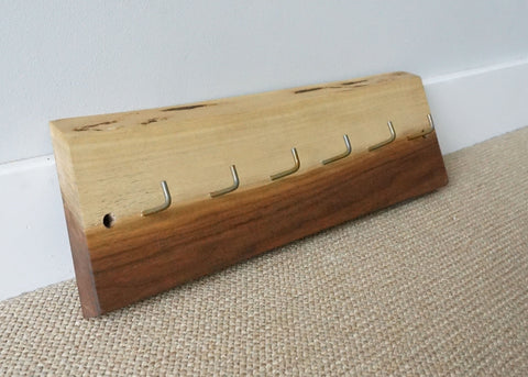 Live Edge Walnut Key Rack