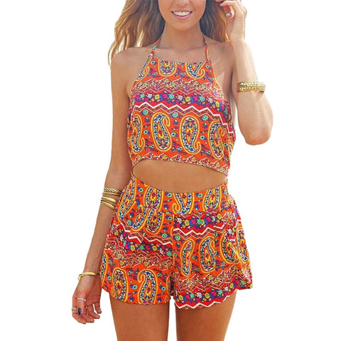 Boho Two Piece Romper