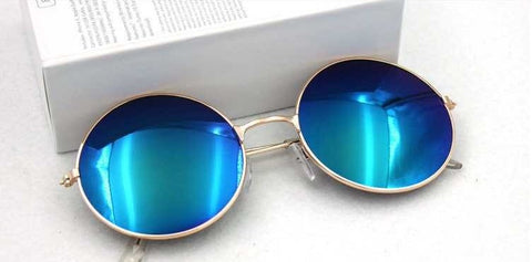 Retro Polarized Round Sunglasses