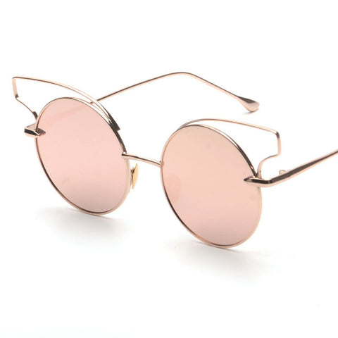 Vinetage Gold Wing Round Sunglasses