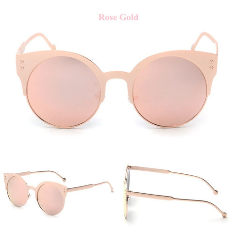 Solid Cat Eye Aviators