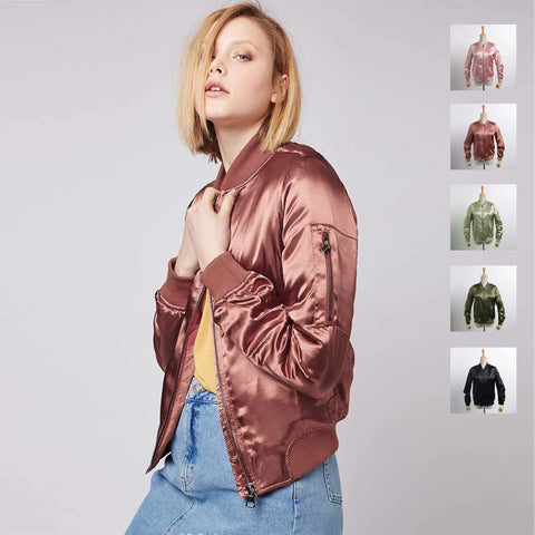 MA1 Padded and Non-Padded Satin Bomber