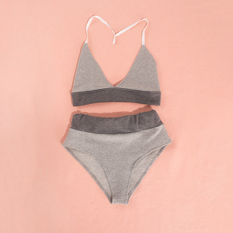 Two Piece Crop Top and Shorts Sweats Set