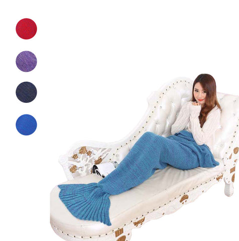 Wool Knitted Mermaid Blanket (adult)