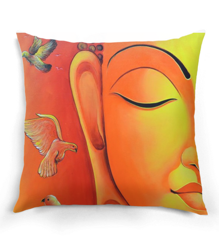 Buddha & Doves Pillow