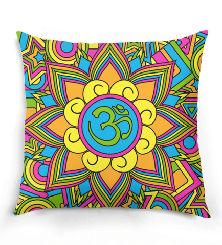Hippie Inspired Om Pillow