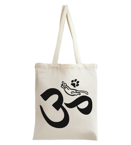 Cat Om Tote Bag