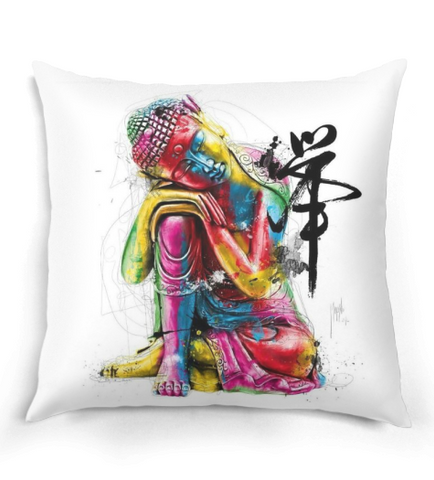 Modern Painting Buddha Pillow