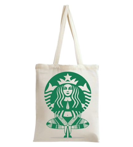 Star Bux Yoga Style 2 Tote Bag