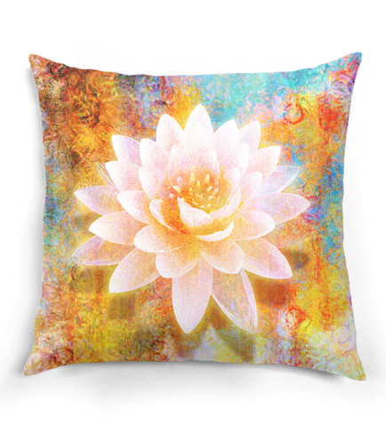 Abstract Lotus Pillow