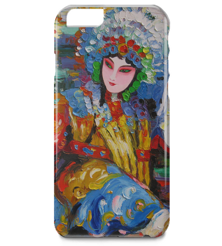Chinese Opera Oil Painting iPhone 6 Plus Case
