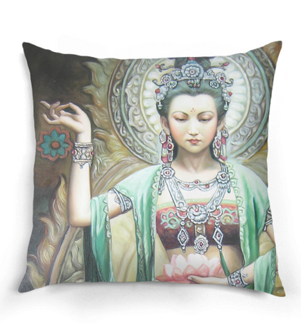 Elegant Guan Yin Pillow