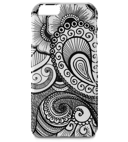Henna Flowers iPhone 6 Plus Case