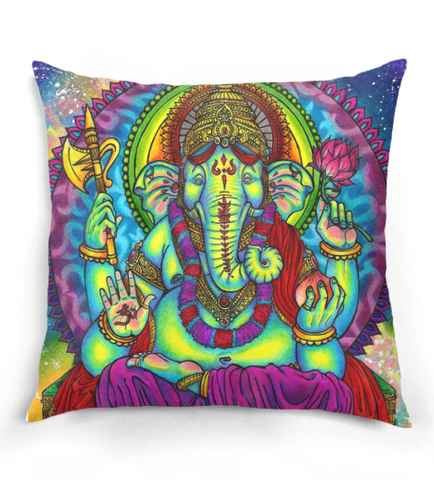 Hippie Ganesha Pillow