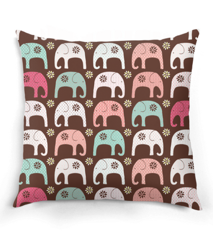 Cute Elephant Pattern Pillow