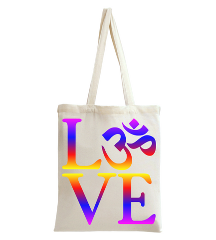 LOVE OM Tote Bag