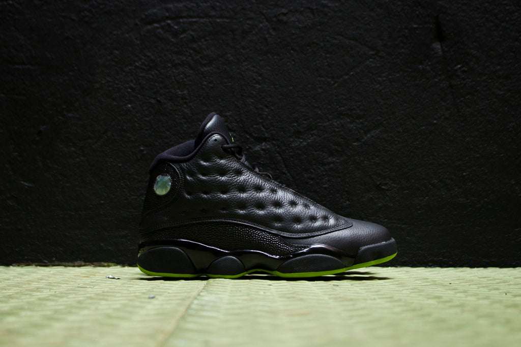 new style 81e56 545d5 Air Jordan 13 Altitude Black Green