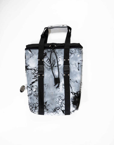 CLD x Thebe Magagu PVC bag- White/Black