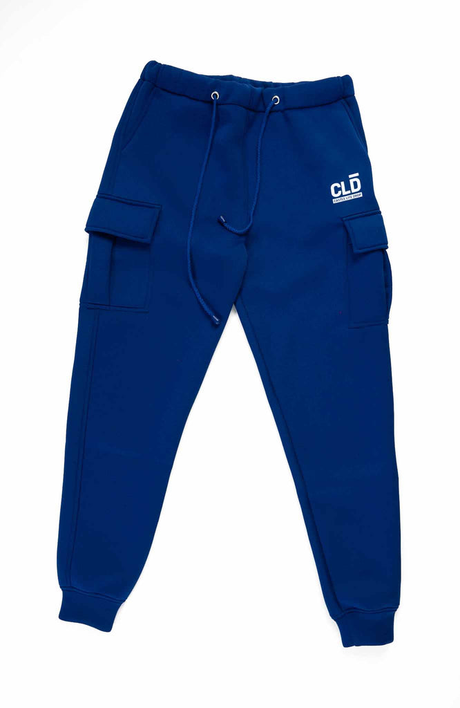 CLD X Thebe Magugu Sweat pants- Cobalt