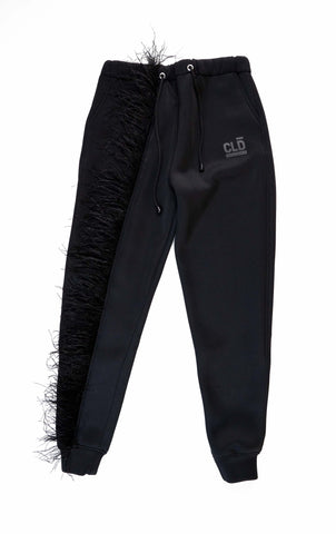CLD x Thebe Magugu Sweat pants- Black