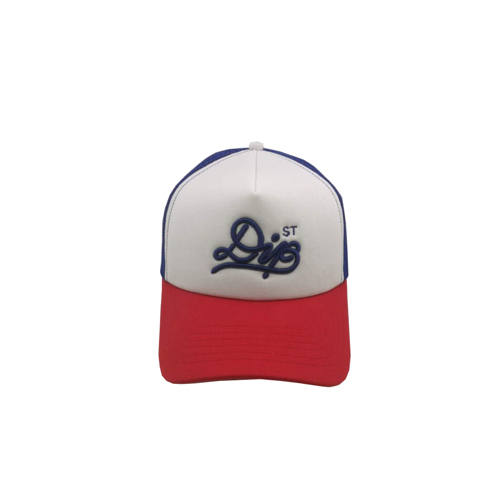 DIPSTREET SHOELACE FOAM  TRUCKER RED/ROYAL