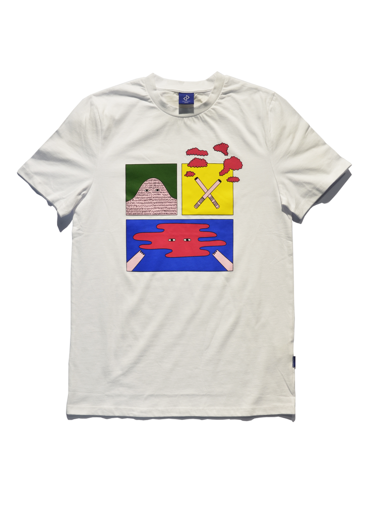 DIPSTREET SITW UP IN SMOKE Art Tee - White